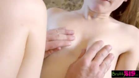 Angela White's big milky tits get milked! - Naughty America