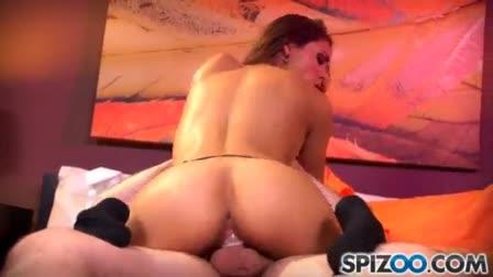 Curvy swinger Angel Lynn swallows a big black cock