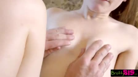 Hot Blonde Gives Awesome Head and Footjob